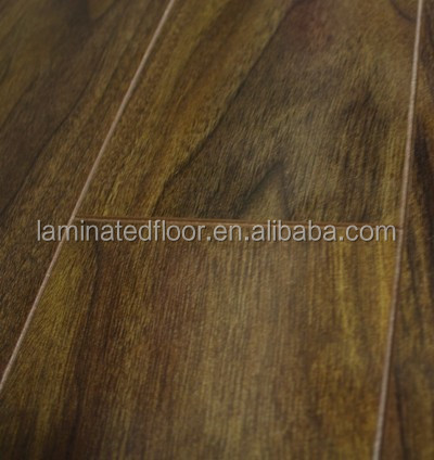 Promotion !1Jewel Black Walnut Gloss 12mm laminate floor