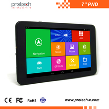 7 inch wifi tablet pc android PND portable car pnd quad-core Car DVR GPS Navigator with1080P AV/IN dash cam recorder