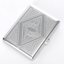 2018 JL-065N Yiwu Jiju Timed Metal Available 20 Cigarette Case With Pattern