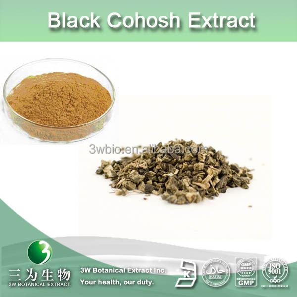 100% natural black cohosh P.E,actaea racemosa powder,black cohosh powder