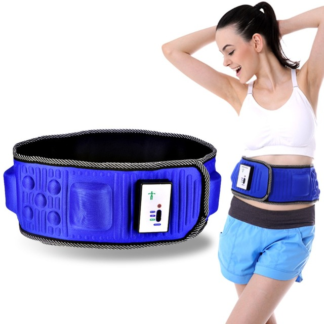 Vibration Fitness Massager lose weight Magentic Waist Support  slimming bandage