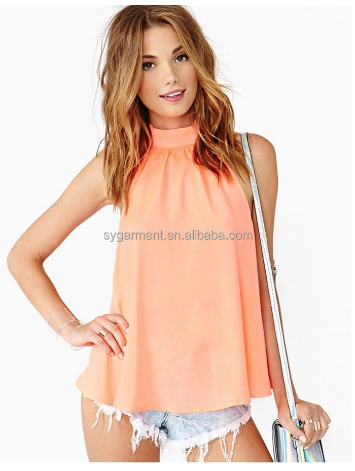 2014 Women Casual Blouse design Sexy Off Shoulder Chiffon tops Backless Shirt for Women