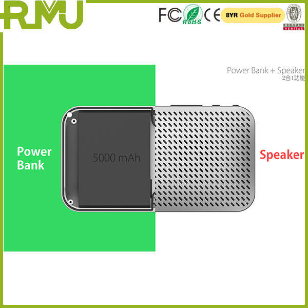 Manufacturer Supplier speaker power bank 5000mah review with certificate