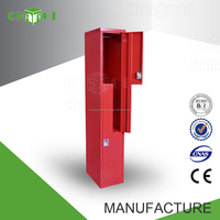L shape metal locker with mirror
