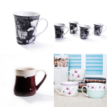 Manufactory hot sale candy color glazed mug coffee mug ceramic mug