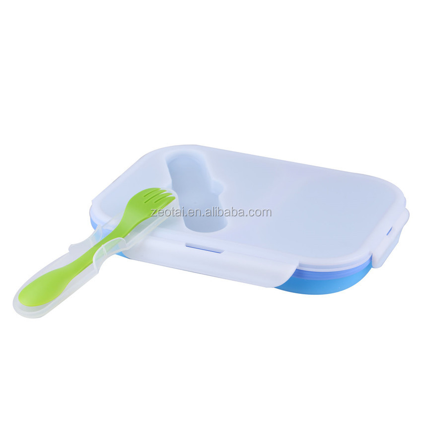 Large Silicone Pack Away Lunch Box - Folds Flat
