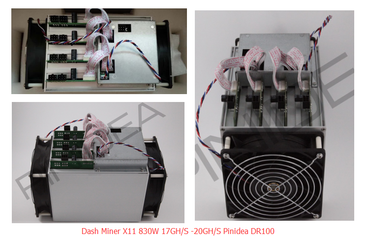 First Batch Pinidea DR-100 Miner x11 17GH/s 820W For Dash Coin Similart to Antminer D3 Pinidea DR-100