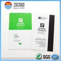 access control PVC credit cards with magnetic stripe for hotel key