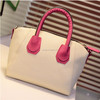 Wholesale women fashion pu leather hand bag , leather weekend bag