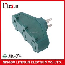 LT 1 UL CUL 3 outlets Grounding Adapter power charging