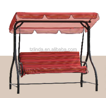 Garden 3-seat metal ceiling swing chair