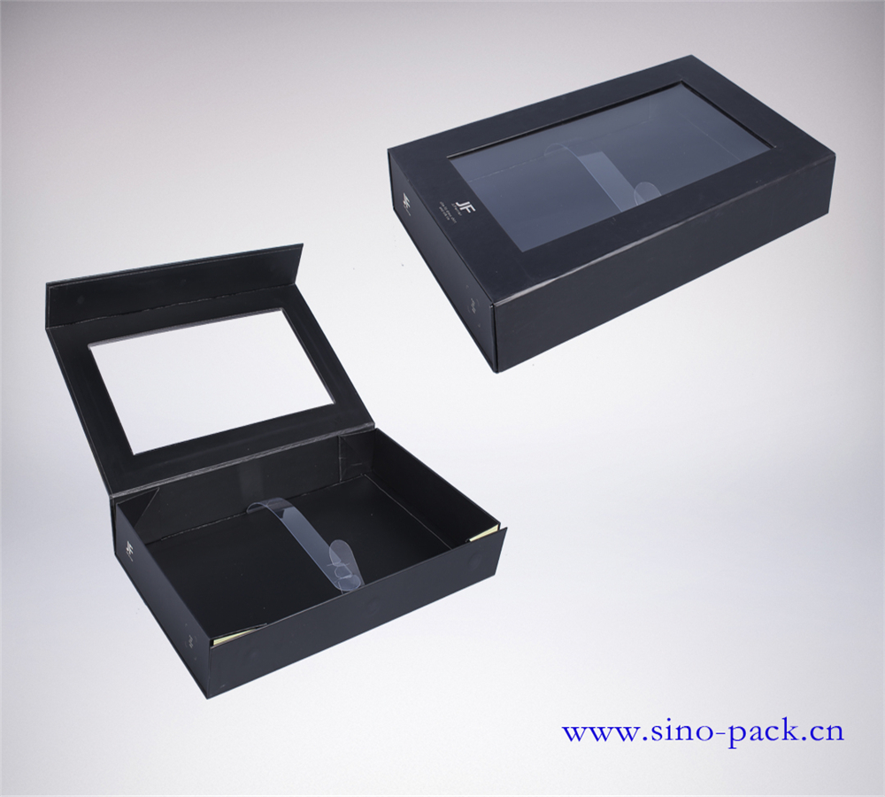 Hengshang paper packing empty foldable gift packaging box with pvc window