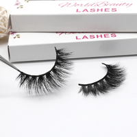 Worldbeauty New Fashion Luxury 3D volume real mink fur eyelash 100% real mink fur eye lashes