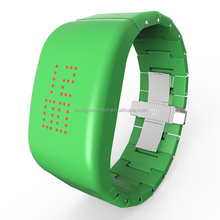 ABS High-grade Explosion - proof LED Green Watch with Stainless Steel Butterfly Shape Clasp