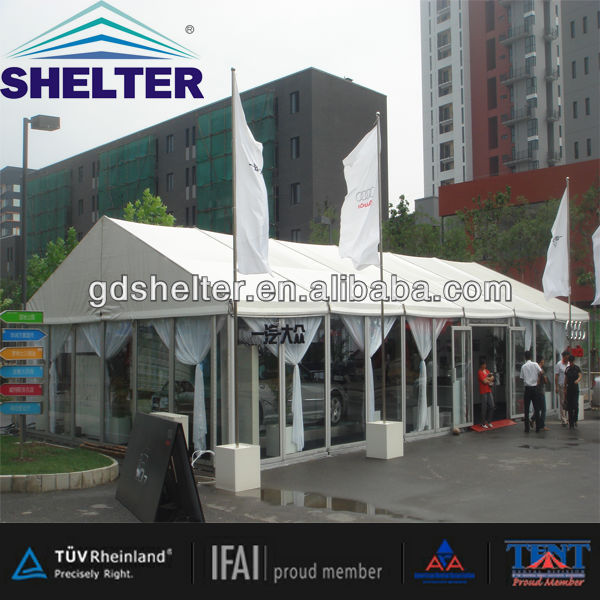8x15m Outdoor Tents with Glass Walls and Glass Doors Used for Show Rooms for VIP Room