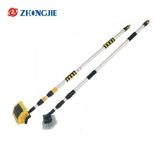 Telescopice Aluminum Handle Water Flow Wash Car Cleaning Brush