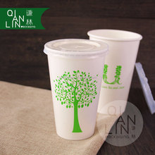 Disposable paper cups for coffee and milk