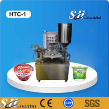 shanghai professional manufacture automatic rotary type plastic cup filling sealing machinery for jelly/coffee/milk/yogurt