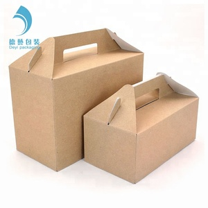 Printing effective corrugated cardboard 4 pack bottle 330 ml packaging beer carrier gable handle gift box