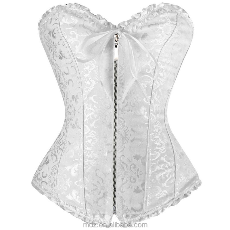 Sexy women corset Plus size Corset factory for ebay,amazon/wish zipper overbust shapewear with thong burlesque korsett corpete <strong>c</strong>