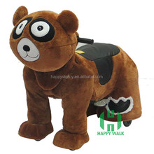 Amusement Park Big Dog Bear Design Electric Animal Scooter Coin Opperated Walking Animal Toy