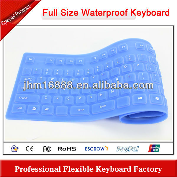 flexible silicon different parts of keyboard