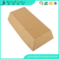 Natural Kraft Food Trays grease resistant paper tray for sandwiches french fries or chopped meat