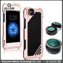 Mobile camera lens and ultra thin light shockproof high impact aluminum alloy hybrid case cover for Apple iPhone 5