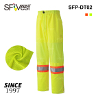 100% polyester oxford faric with breathable mesh safety reflective work pant high visibility workwear trousers
