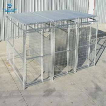5'X10'X6' heavy duty outside dog kennel 3 run with fight guard