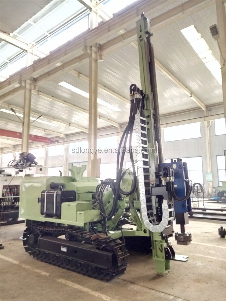 Solar Screw Driven Ground Pile Drilling Rig and Ramming Pile Drivers Machine MZ460Y