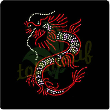 Rhinestone Hotfix Motif Design Transfers Fancy Dragon