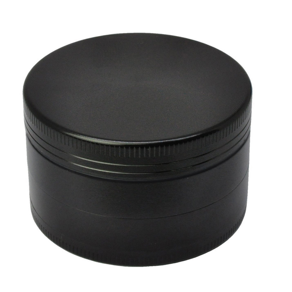 "Golden Bell 4 Piece 2"" Tobacco Spice Herb Weed Grinder - Color:Black"