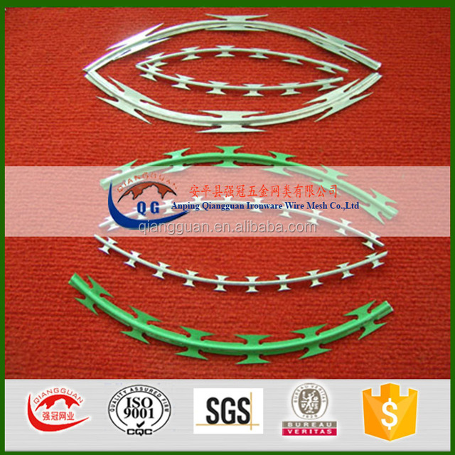 cheap barb wire for philippines/CBT65 razor blade wire/galvanized razor wire