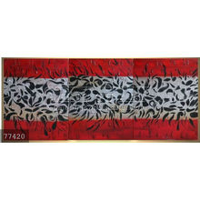Handmade Modern Group Abstract Oil painting on canvas,fantasy dragon dance red silver black