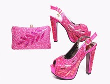 Wholesale italian shoes and bag set High quality shoes and purse for lady