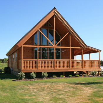 Manufacturer of 3 bedroom family vacation wooden prefabricated house