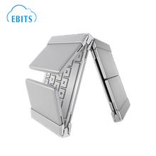 Tri-fold Aluminum Mini Folding/Foldable Wireless Bluetooth Keyboard For Smartphone/Tablet PC/Ipad