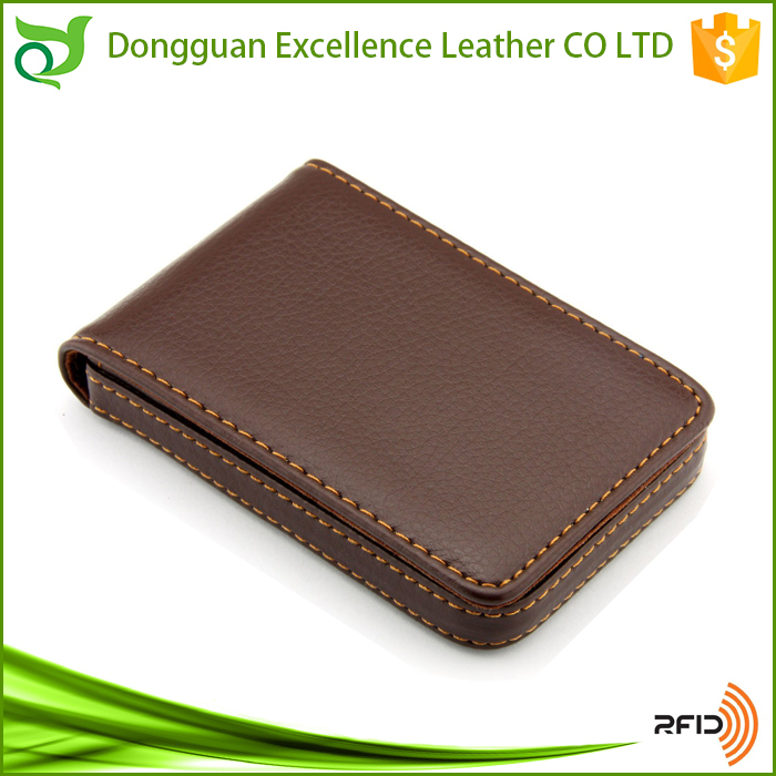 Trendy Genuine Leather Minimalist Wallet Case RFID Blocking Wallet Credit Card Holder Leather