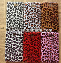 Color Leopard Rubber Hard Back Phone Case Cover for Samsung Galaxy Note i9220 N7000
