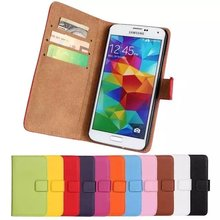 Factory price simple blank waterproof flip wallet covers leather phone case for samsung galaxy S5