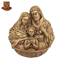Hot sale resin holy family wall art sculpture