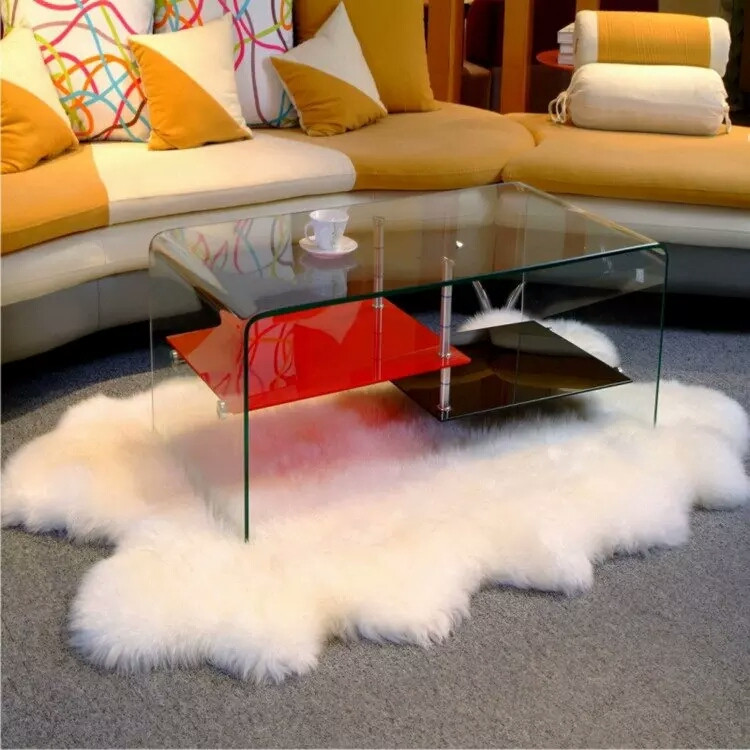 Sheep skin carpet rug