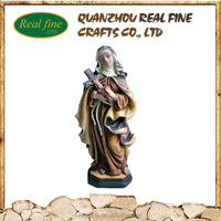 Hand painting reigious polyresin craft mary