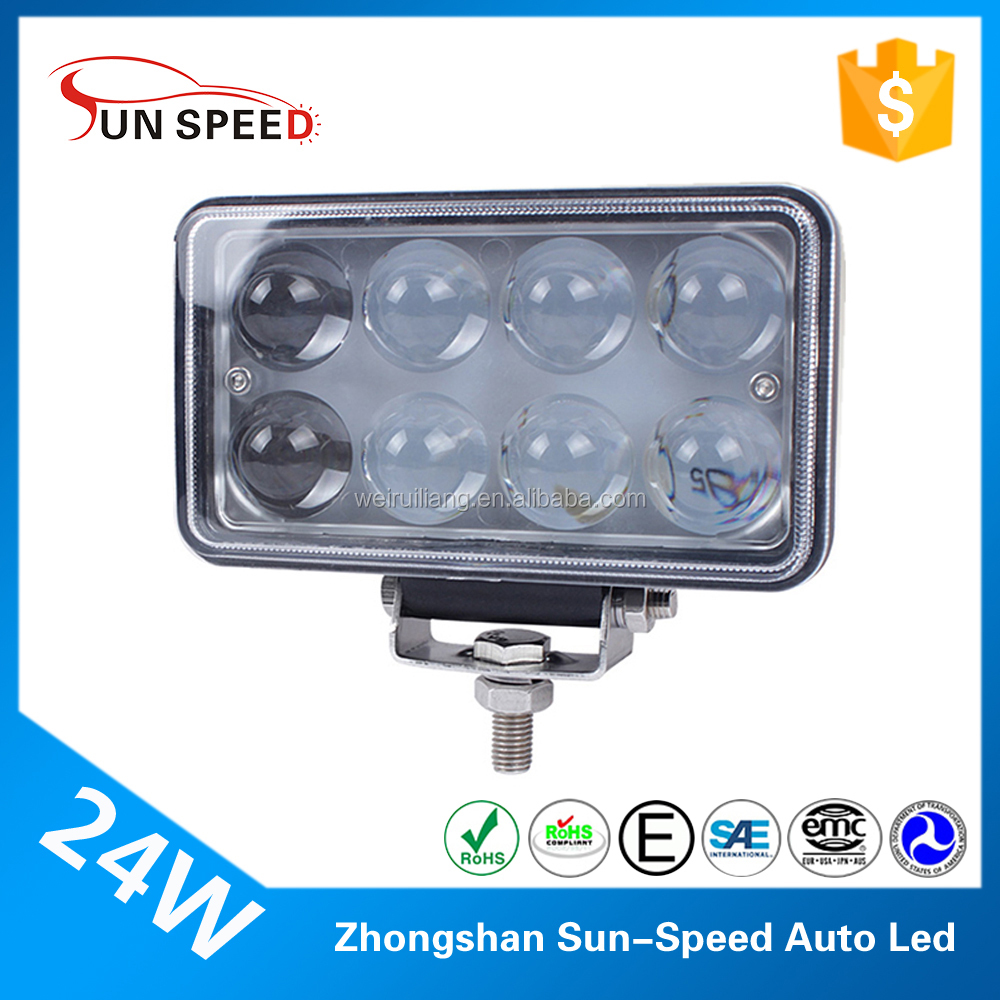 2017 led sewing machine work light tractor mining truck 24w led light spot light square 5'' auto lamp