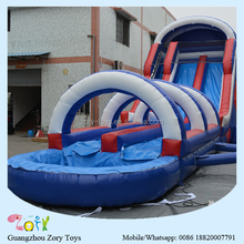 fiber water slide , ZY-WS1094 hippo inflatable water slide