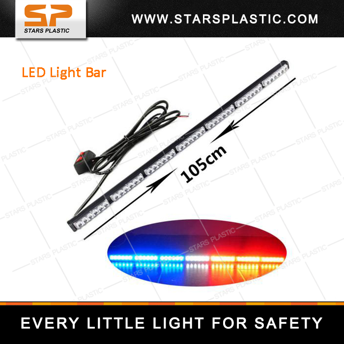 42inch Offroad Car Light Single Row LED Light Bar for Trucks led warning light bar