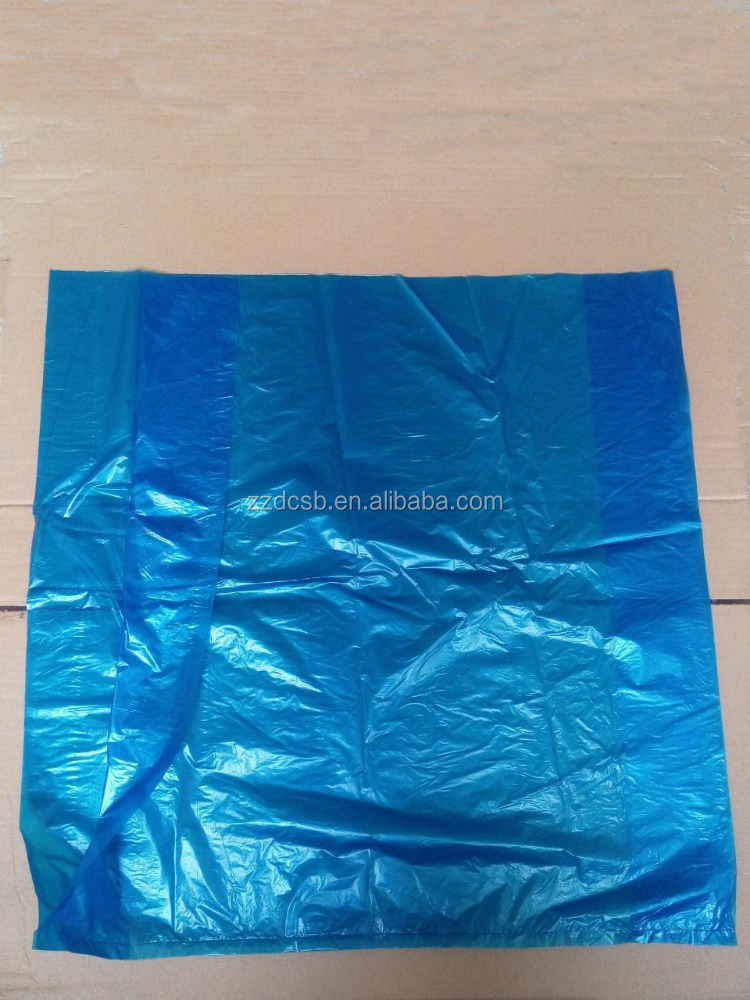 Dark Blue Plastic HDPE Flat Poly Bag With Side Gusset
