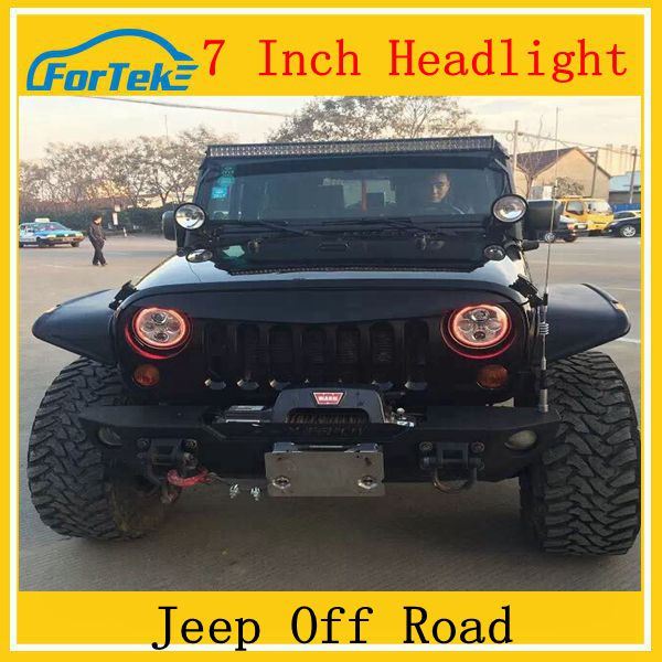 Super bright high quality off road led headlight jeep wrangler headlight led headlight for jeep wrangler