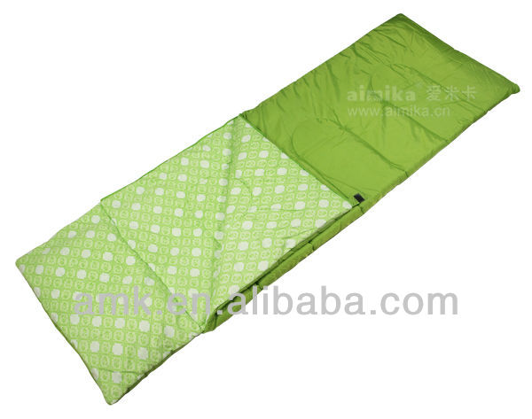 hollow fibre sleeping bag with brand logo printing lined to korea for promotion